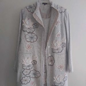 Floral Jacket/Cardigan with Dress